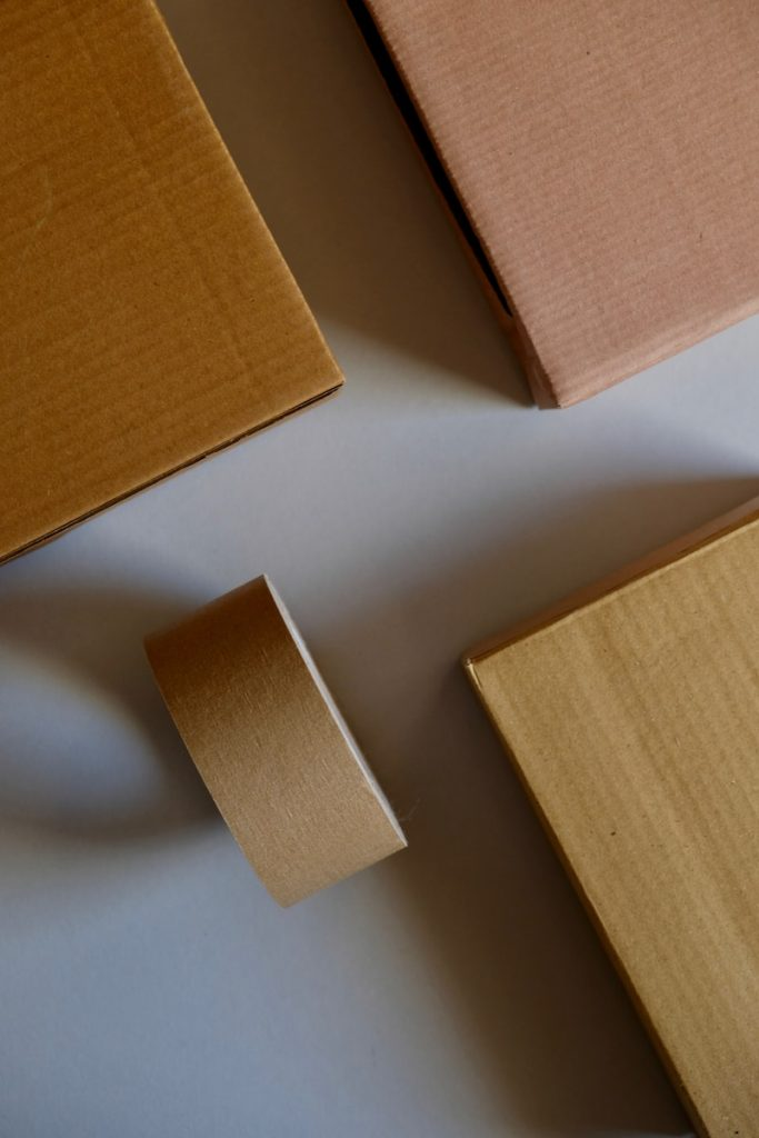 brown wooden board on white surface